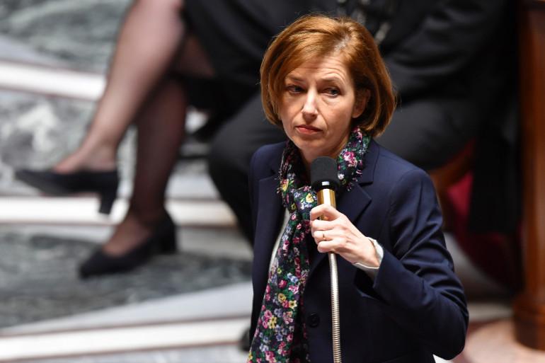 La ministre des Armées Florence Parly à l'Assemblée nationale, le 4 avril 2018