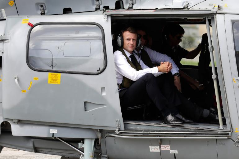 Emmanuel Macron aux Antilles, le 29 septembre 2018