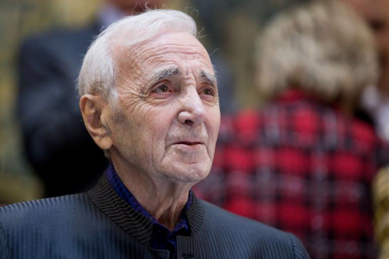 """Charles Aznavour était l'invité des """"Grosses Têtes"""", le 26 septembre 2018"""
