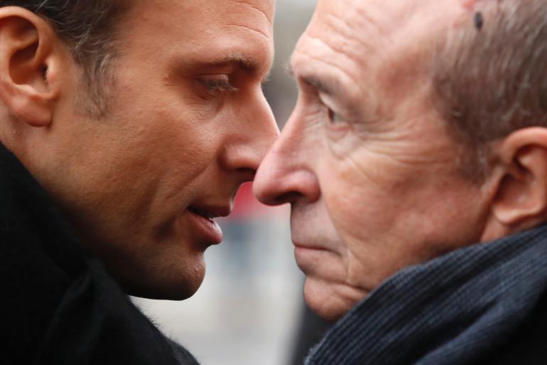 Emmanuel Macron et Gérard Collomb, le 7 janvier 2018