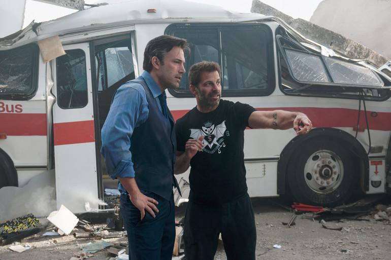 """Ben Affleck et Zack Snyder sur le tournage de """"Batman V Superman"""""""