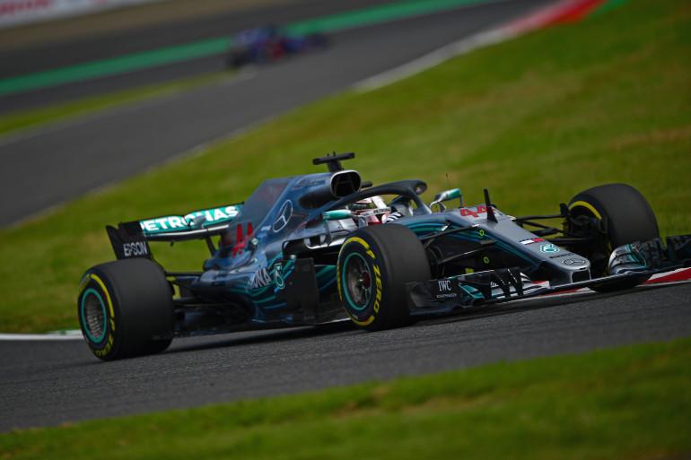 Lewis Hamilton lors des qualifications au Japon, le 6 octobre 2018