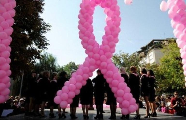Une manifestation pour la lutte contre le cancer du sein (photo d'illustration)