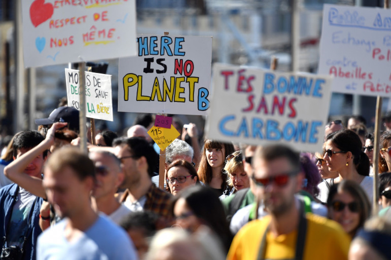 Des milliers de personnes marchent pour le climat à Marseille samedi 13 octobre 2018