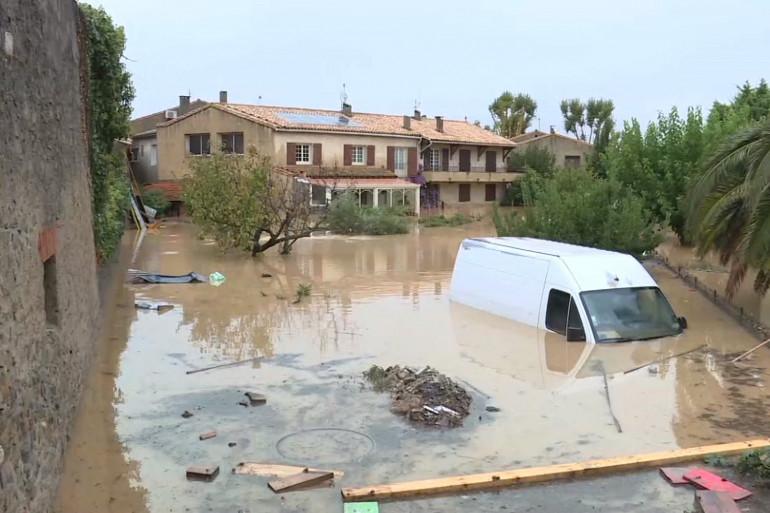 A Trèbes, les eaux ont envahi la ville