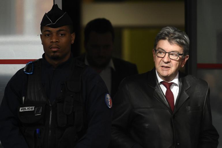 Jean-Luc Mélenchon a été entendu par les policiers anticorruption à Nanterre le 18 octobre 2018