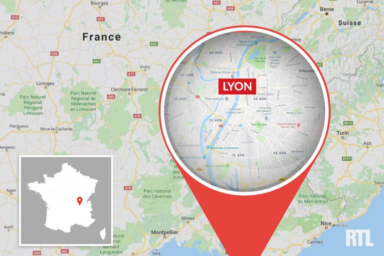 Lyon dans la région Auvergne-Rhône-Alpes