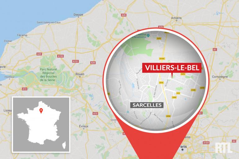 La ville de Villiers-le-Bel, dans le département du Val d'Oise