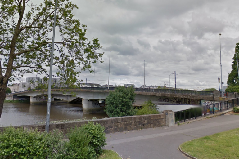 Le pont du général Audibert à Nantes (Loire-Atlantique)