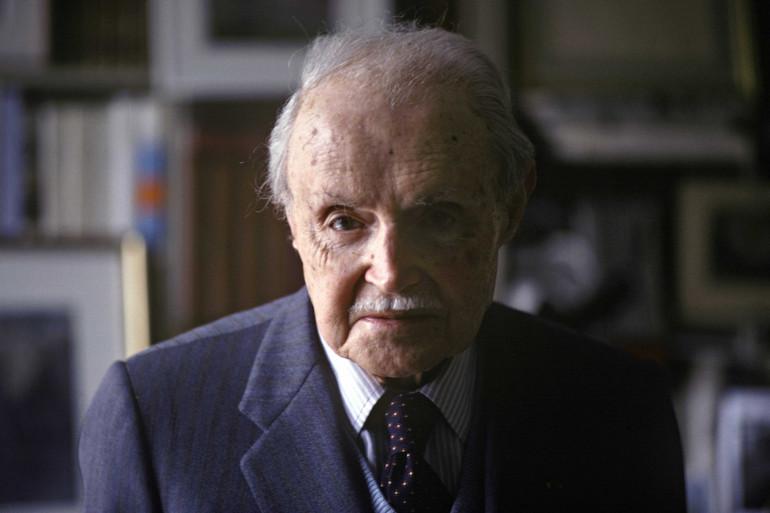 L'auteur Maurice Genevoix, chez lui à Orléans le 6 mai 1979