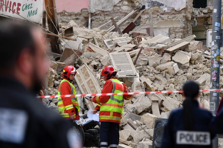 Deux immeubles se sont effondrés à Marseille le 5 novembre 2018