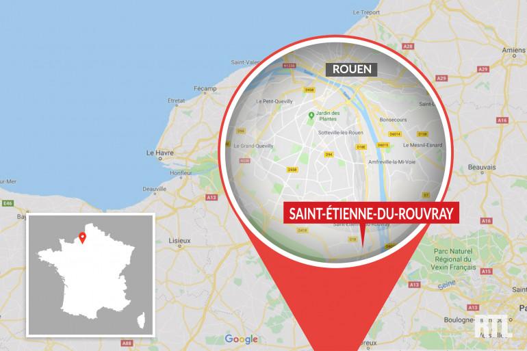 Saint-Étienne-du-Rouvray, dans l'agglomération de Rouen