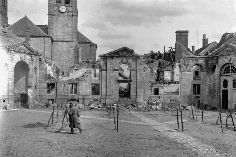 Les ruines de Verdun en 1916
