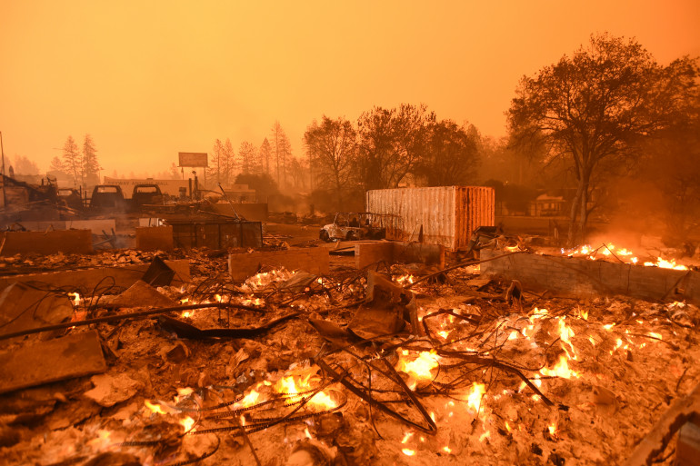 La ville de Paradise a été partiellement détruite par l'incendie