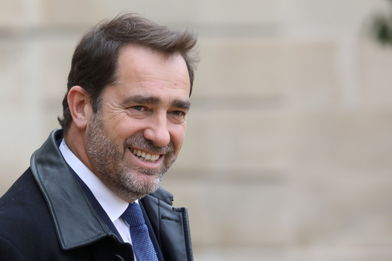 Christophe Castaner sortant de l'Élysée le 30 octobre 2018