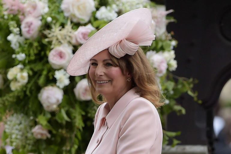 Carole Middleton lors du mariage de Pippa et James en 2017