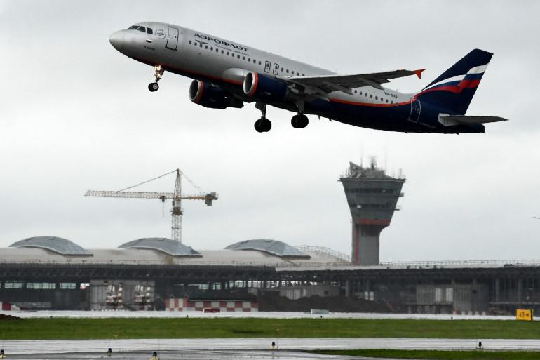 Un avion de la compagnie Aeroflot décollant de l'aéroport moscovite de Cheremetievo.