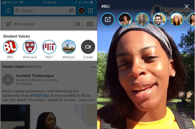 Linkedin veut séduire les étudiants avec les stories