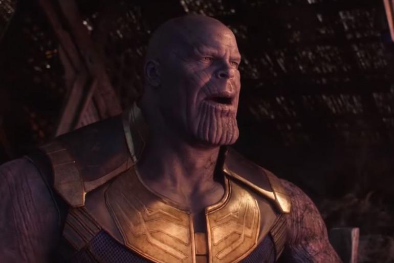 """Thanos après avoir éradiqué la moitié de l'univers dans """"Avengers : Infinity War"""""""