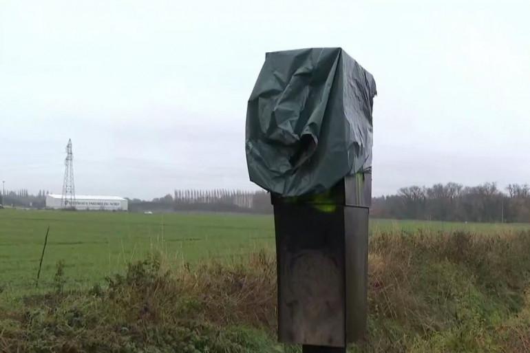 Un radar vandalisé à Annay-sous-Lens, le 28 novembre 2018