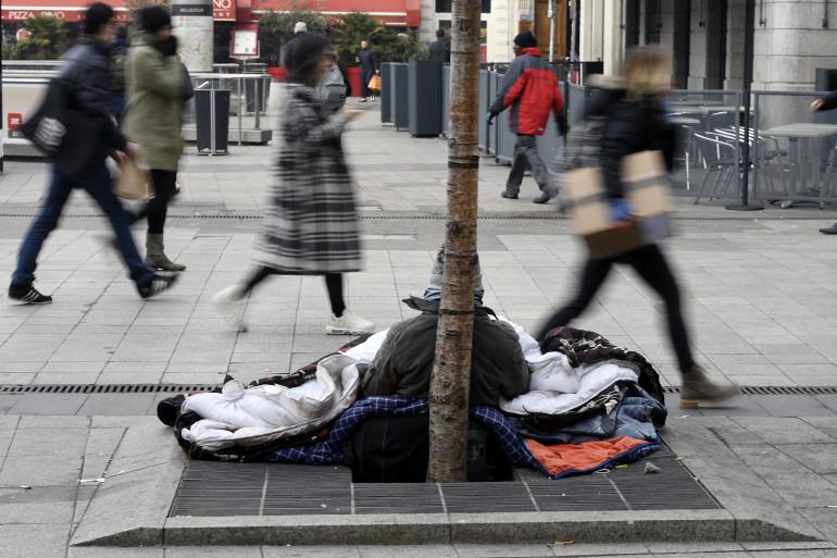 Une personne sans-abri à Lyon en janvier 2017 (illustration).