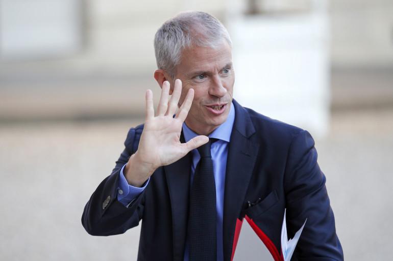 Franck Riester à l'Élysée le 17 octobre 2018
