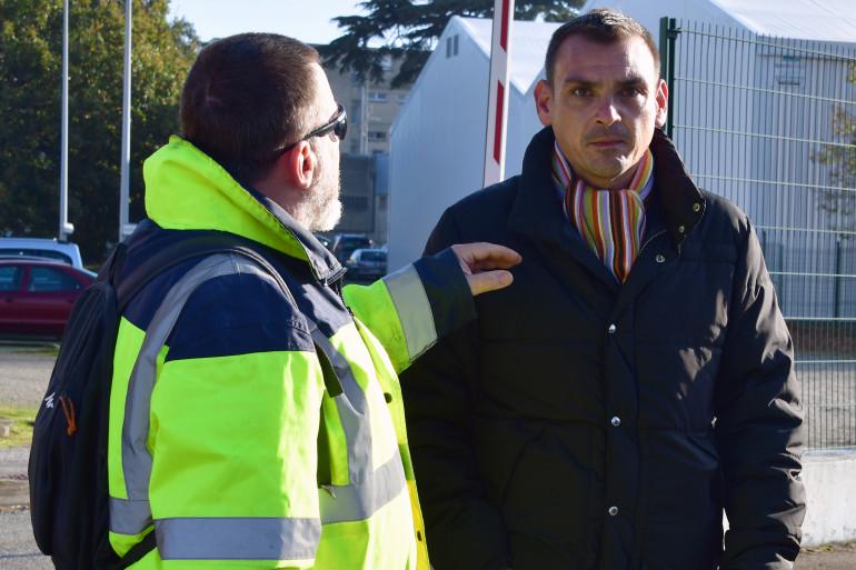 """Benjamin Cauchy, l'un des porte-parole des """"gilets jaunes libres"""", à Toulouse le 21 novembre 2018"""