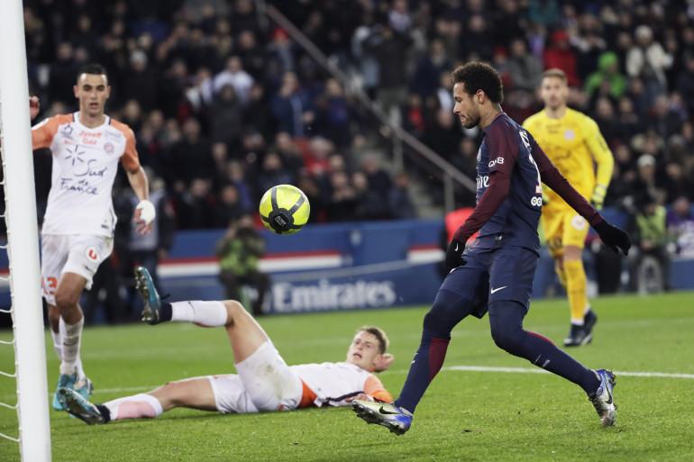 Neymar avec le PSG face à Montpellier le 27 janvier 2018