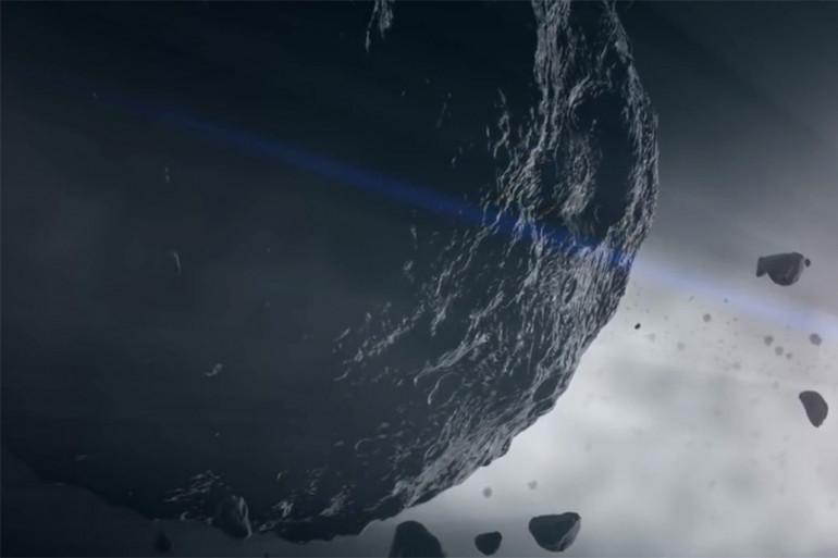 """Vue d'artiste de l'astéroïde """"Bennu"""""""