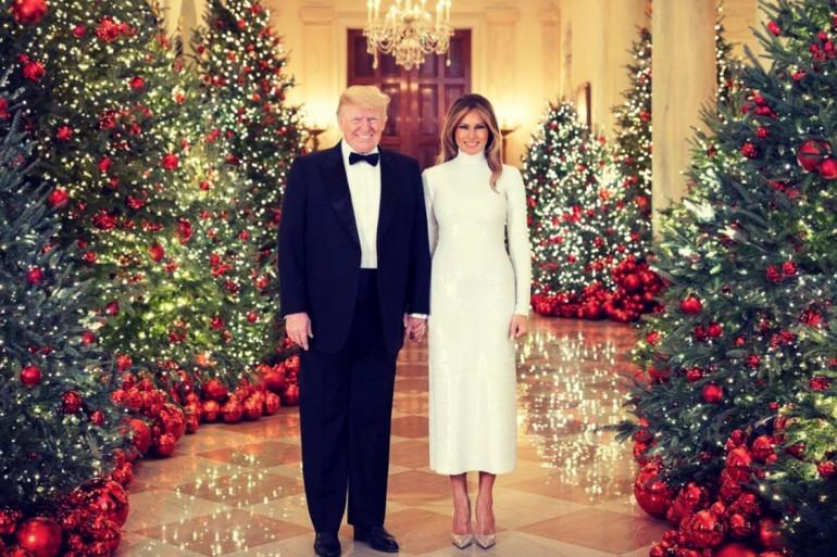 La carte de voeux de Melania et Donald Trump, décembre 2018