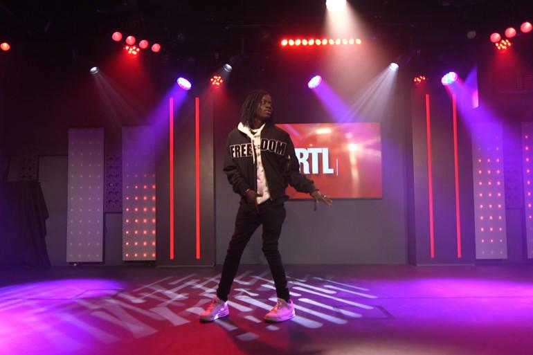 Salif La Source dans les studios de RTL le 20 décembre 2018