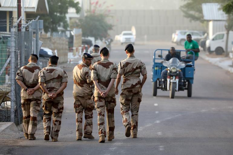Des soldats français de la force Barkhane à N'Djamena, au Tchad, samedi 22 décembre 2018