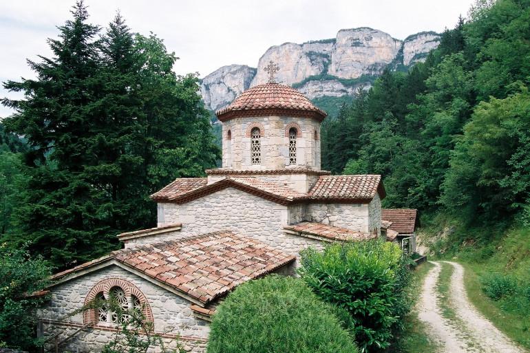 Un monastère (illustration)