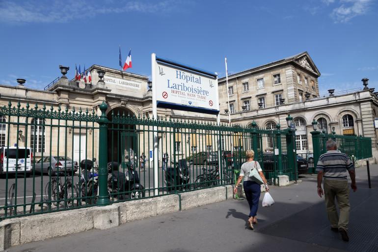 L'hôpital Lariboisière à Paris (illustration)