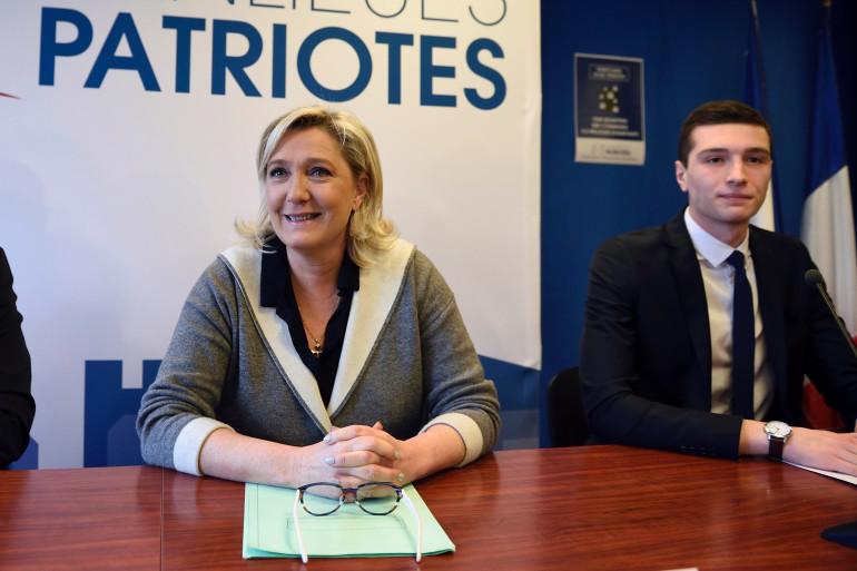 Marine Le Pen et Jordan Bardella, tête de liste RN pour les européennes