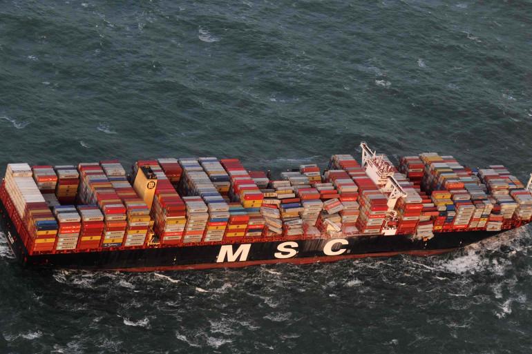 270 conteneurs perdus par un navire en mer du Nord