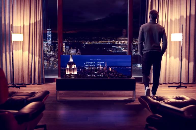 LG va lancer les premiers téléviseurs enroulables cette année