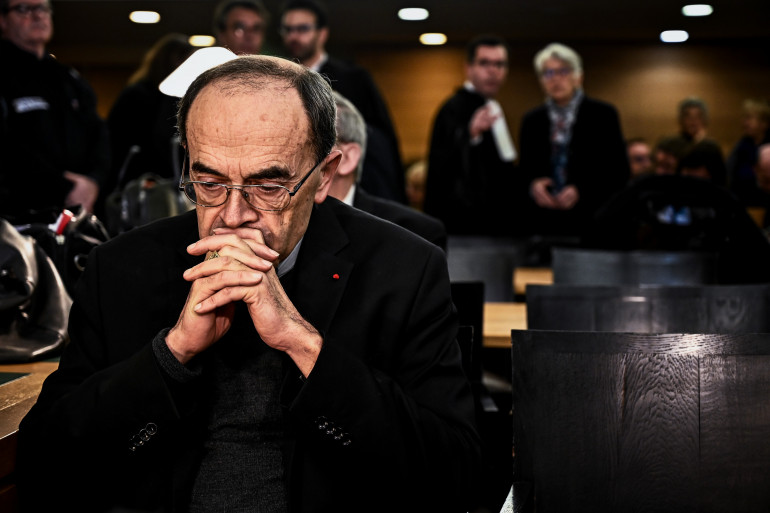 Le cardinal Philippe Barbarin au tribunal le 7 janvier 2019 à Lyon