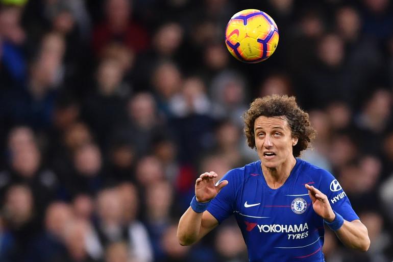 Le Brésilien David Luiz avec Chelsea le 22 décembre 2018