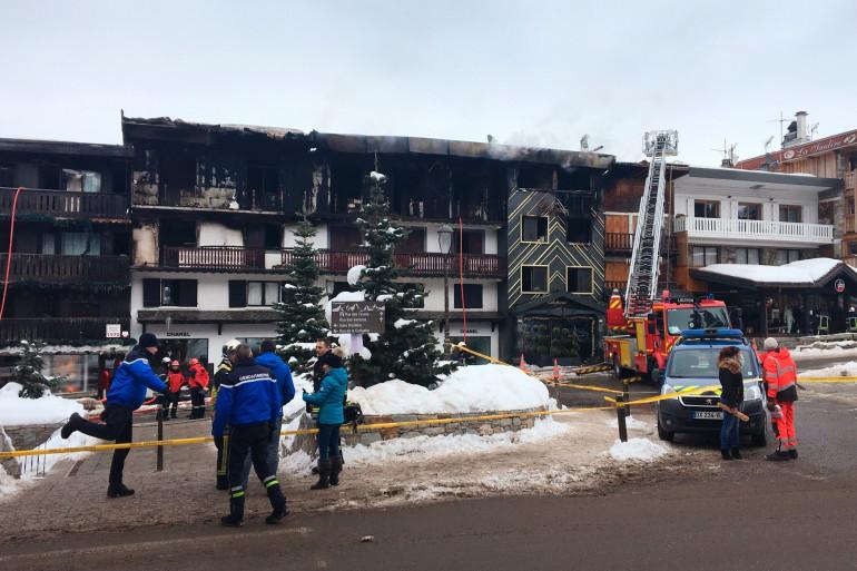 Un immeuble a pris feu à Courchevel le 20 janvier 2019