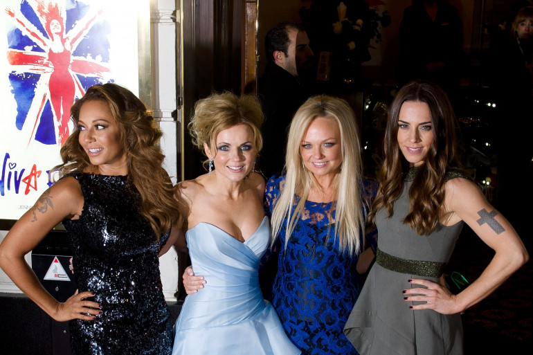 Les Spice Girls le 11 décembre 2012 à Londres, au Royaume-Uni
