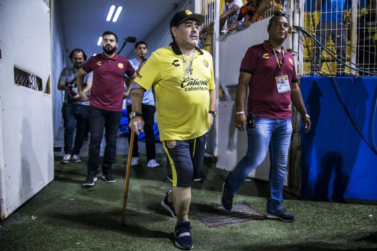 Diego armando Maradona au Mexique le 27 octobre 2018