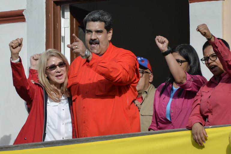 Le président vénézuélien Nicolas Maduro, à Caracas le 23 janvier 2019