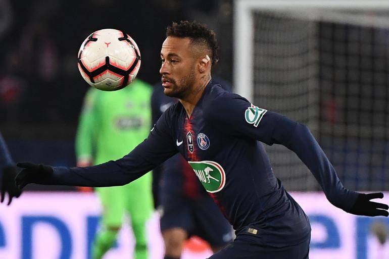 Neymar avec le PSG face à Strasbourg le 23 janvier 2019