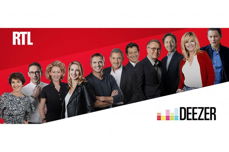 Visuel RTL sur Deezer