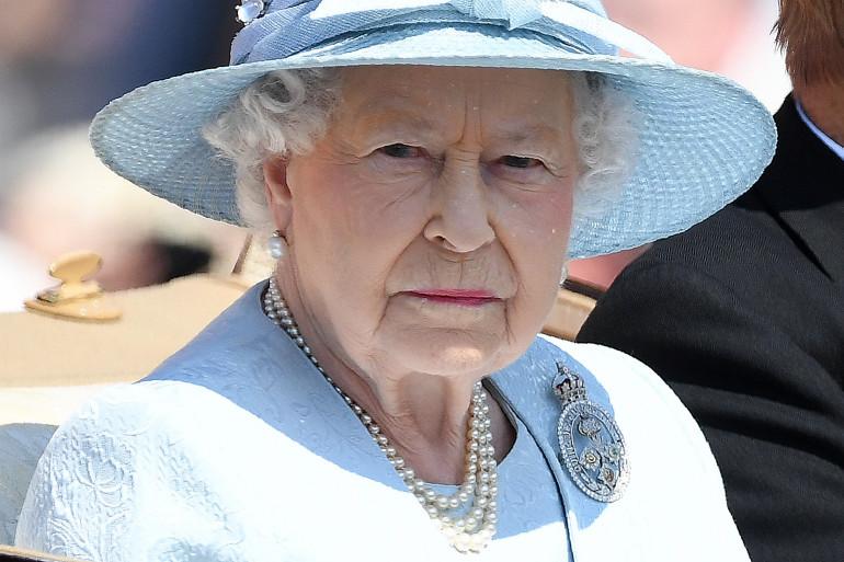 Elisabeth II, lors des célébrations de son 91e anniversaire, le 17 juin 2017