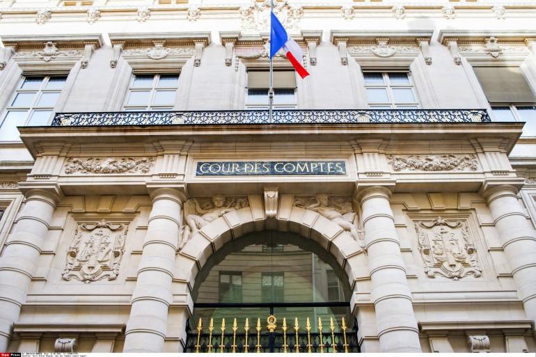 L'entrée de la Cour des comptes, à Paris.