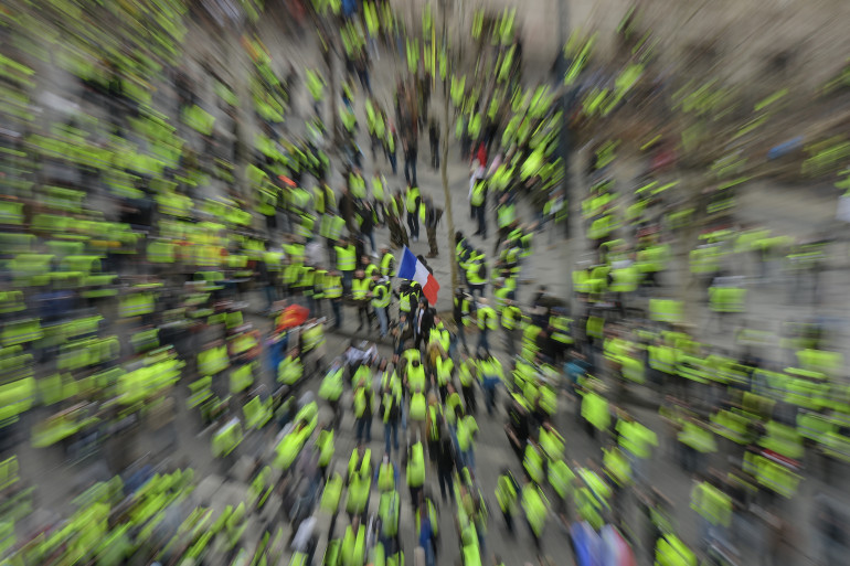 """Acte 15 de la mobilisation des """"gilets jaunes"""" (illustration)"""