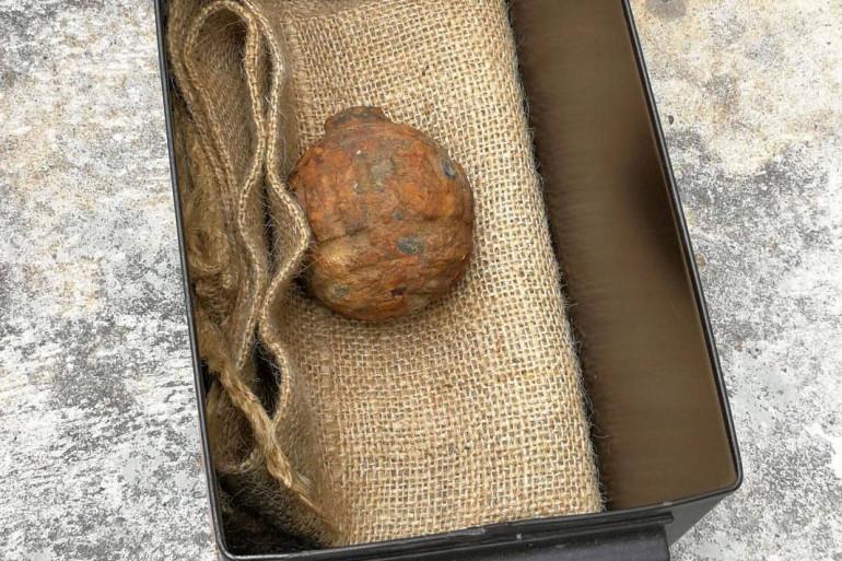 Une grenade datant de la Première guerre mondiale, a été découverte dégoupillée dans une cargaison de pommes de terre