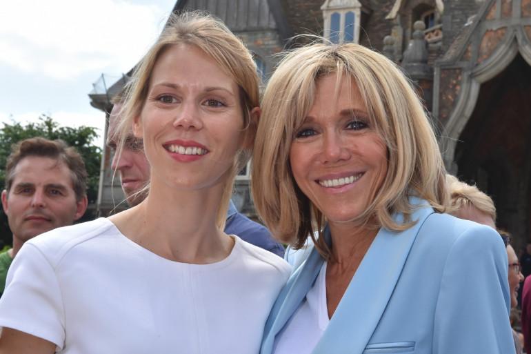 Tiphaine Auzière et sa mère, Brigitte Macron, le 18 juin 2017